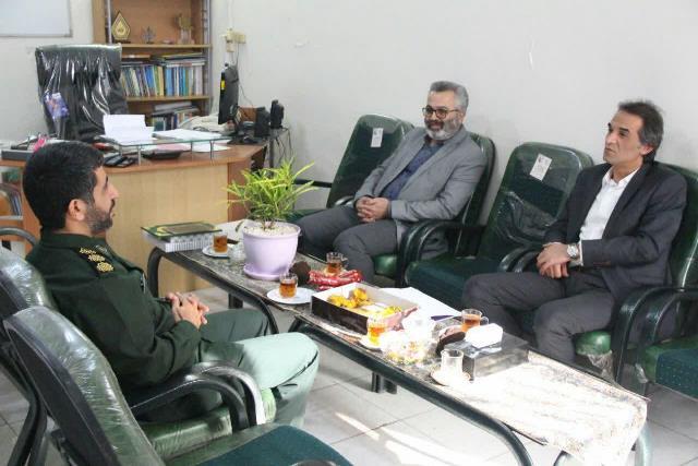 دیدار مدیر منطقه چهار شهرداری رشت با فرمانده جدید سپاه ناحیه مرکزی رشت