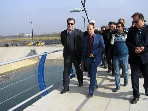 بازدید مدیر عامل شرکت آب منطقه ای استان گیلان از روند اجرایی سدهای لاستیکی شهرستان لنگرود