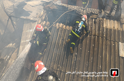 پوشش ۲۶ مورد حریق و حادثه توسط آتش نشانان شهر رشت در ۴۸ ساعت گذشته