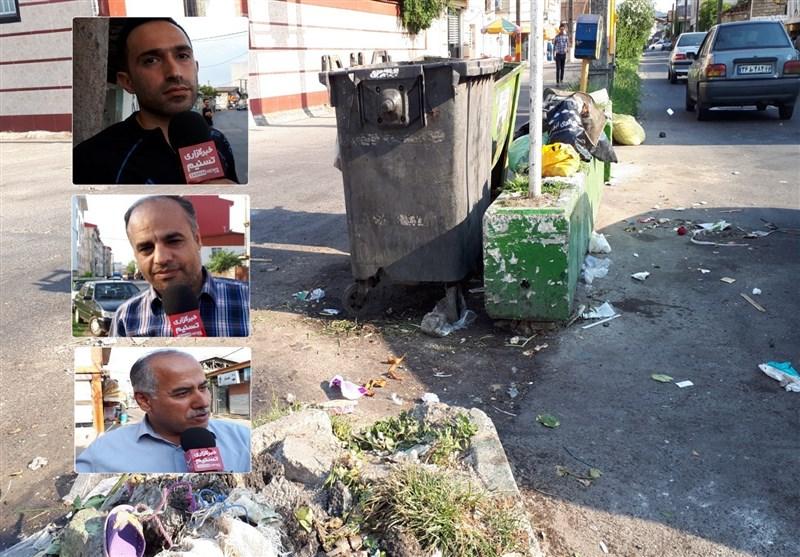 زبالههای سرگردان شهر رشت سلامتی مردم را تهدید میکند+ فیلم
