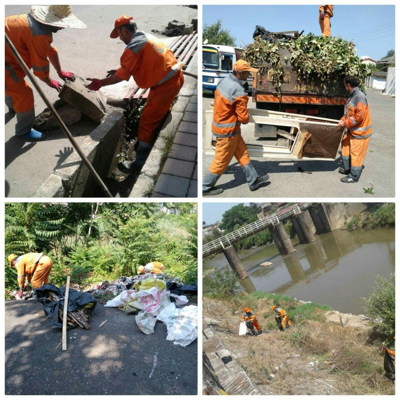 گزارش حوزه مدیریت خدمات شهری از هفته یازدهم طرح پاکسازی هفتگی محلات شهر رشت