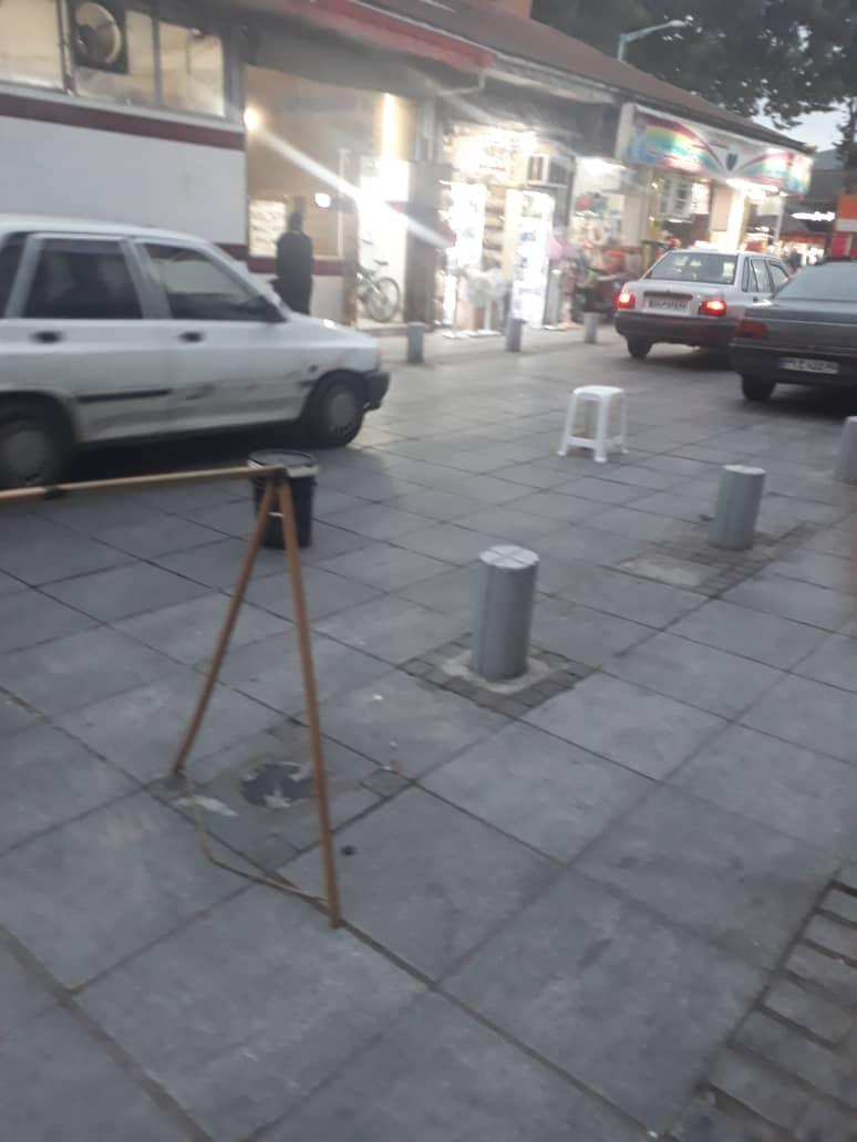 سد معبرهای عجیب در غیاب نیروهای سد معبر شهرداری رشت