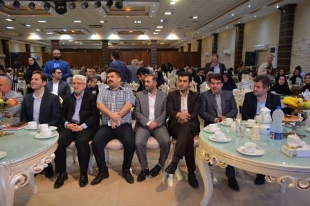 مراسم تجلیل از خبرنگاران توسط شهرداری و شورای شهر رشت در تالار گلستان با حضور مهندس عطایی مدیر منطقه ۱