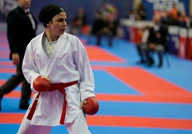 حضور «سارا بهمنیار» در لیگ جهانی کاراته وان
