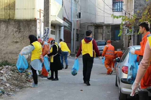 طرح پاکسازی محله حمیدیان رشت به اجرا در آمد