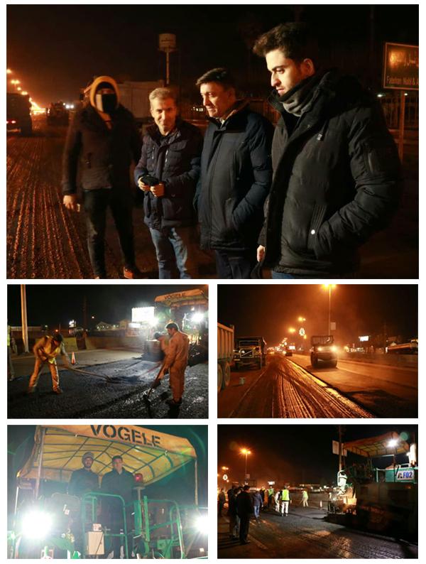 گزارش تصویری اجرای عملیات عمرانی در سطح شهر