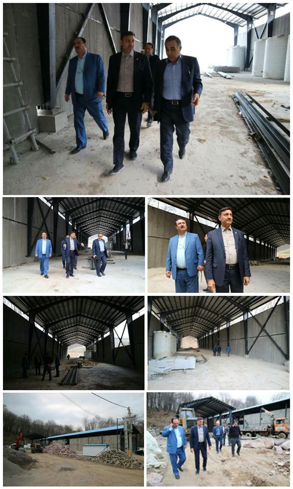 تداوم بازدیدهای شهردار رشت از روند اجرای پروژه تصفیه خانه شیرابه سراوان
