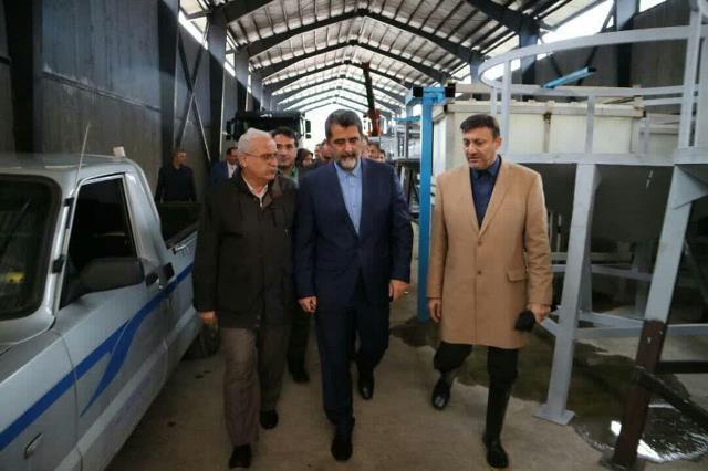 بازدید معاون اقتصادی وزیر کشور از روند اجرای احداث تصفیه خانه شیرابه سراوان