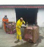 سازمان مدیریت پسماند های شهرداری رشت نسبت به ترمیم مخازن زباله شهری اقدام کرد