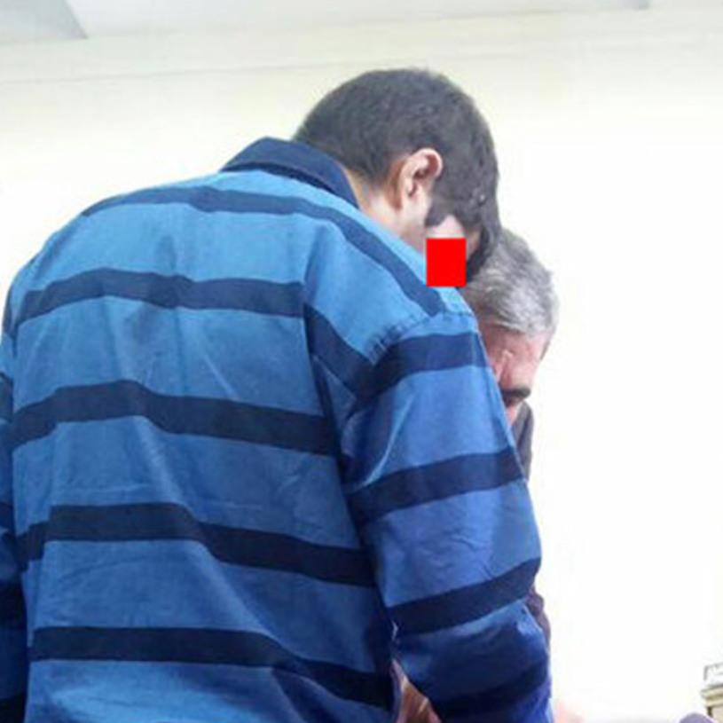مرد جوان در برابر درخواست قصاص چشم
